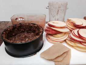 appeltaart rawfood