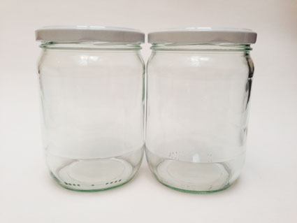 glazenpottenmetdeksel